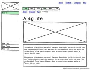 wireframe wordpress